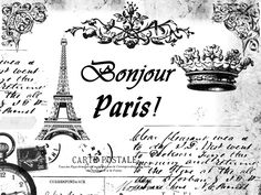 **FREE ViNTaGE DiGiTaL STaMPS**: FREE Vintage Digital Stamp: PARiS Collage