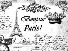 **FREE ViNTaGE DiGiTaL STaMPS**: FREE Vintage Digital Stamp: PARiS Collage