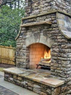How to build an outdoor stacked stone fireplace.