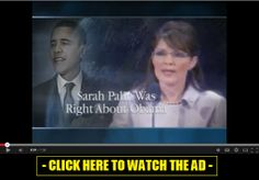 Governor Sarah Palin is currently making endorsements of conservative candidates for Congress in these 2014 elections and we want to do everything we can to make sure every single one of them is victorious.  We start by airing this this fantastic new TV ad in key swing states all across the country so voters can know the truth - that Sarah Palin was right about her warnings concerning Barack Obama and that it is time for a change to new conservative leadership to restore American greatness.