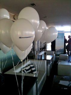 Globos de helio impresos para eventos empresariales. Multifiesta