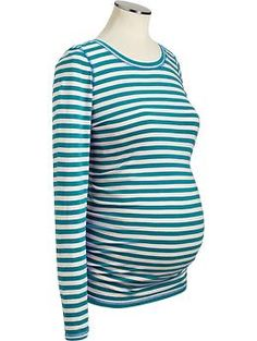 $16.94 Maternity Long-Sleeve Scoop-Neck Tees | Old Navy