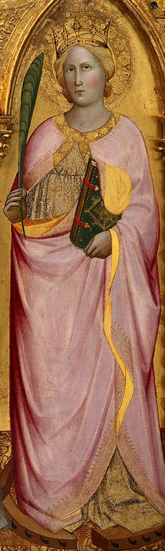Agnolo Gaddi ~ Madonna Enthroned with Saints and Angels (detail), 1380-90 (tempera on panel)