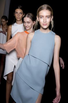 The girls on the catwalk… The tallest limby girls who walked with sheer confidence in their thigh splitting and column dresses. #LucasNascimento. #ss14 #lfw #topshopsupports