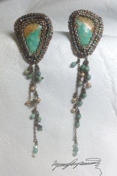 Kingman Earrings created by Lynn Parpard by LynnParpard on Etsy, $110.00