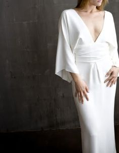 My dress made of silk...