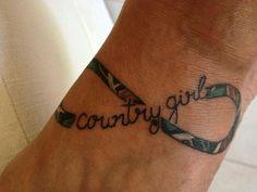 country girl infinity tattoo, girl tattoos, infinity tattoos, countri tattoo, country girls, country tattoos for girls, a tattoo, countri girl, country girl tattoo ideas