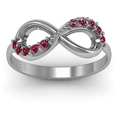 Birthstone Infinity Engagement Ring.. Pretty!