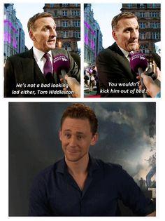 Chris Eccleston knows what to do with Tom Hiddleston.