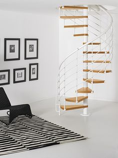 Escaleras stairs on pinterest floating stairs - Modelos de escaleras de caracol para interiores ...