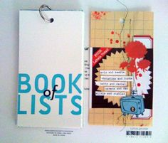 make a book of lists. fun. like the binder ring.