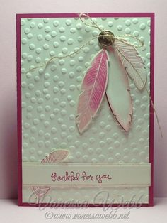 Four Feathers Stampset and Feathers Framelits Bundle by Vanessa Webb  Stampin' Up! Demonstrator