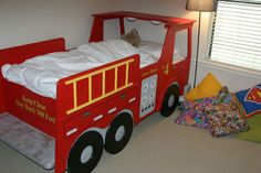 Recently completed fire truck bed