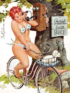 Curvy Pin-Up Women! body images, plus size, real women, curvy girls, art, ride a bike, style icons, hilda, pin up girls