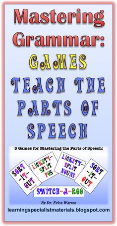 Here is a great blog that discusses about why grammar is an important skill to master and it also offers a link to a set of 5 new grammar games $ !