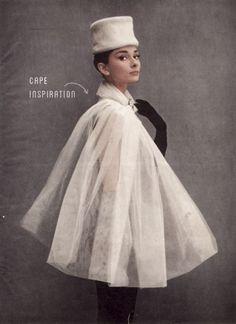 The cape. #audrey #hepburn