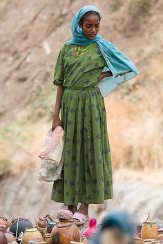 Green Dress - Ethiopia