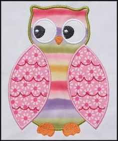 HOOT Owl Applique designs 4x4 and 5x7 hoop by DBembroideryDesigns, $4.99