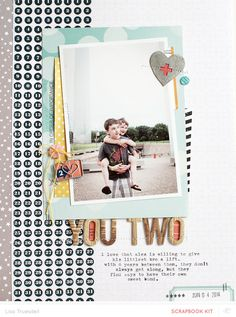 #papercraft #Scrapbook #layout #kids #boys #brothers #family.  you two by gluestickgirl at @studio_calico