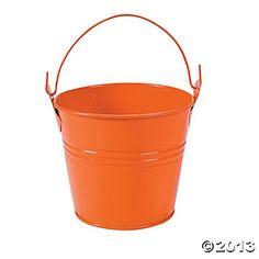 for table settings/food tin pail, birthday parti, babi 1st, birthday idea, 1st birthday, guppi birthday, goldfish birthday, babi lil, orang tin