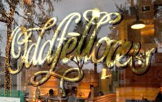 Oddfellows is a step back in time to that classic place in the 1920's. A real gem in the city!