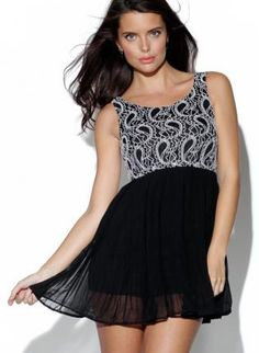 Top and pleated chiffon skirt