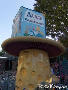 This is The Alice in Wonderland ticket booth in its current state. Now it just looks like a big mushroom