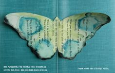 watercolour butterflies made from vintage books