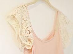 Easy DIY Lace Sleeve Tank Top