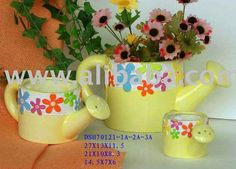 Ceramic painting - flower pot vases