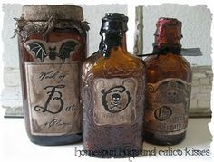 Altered bottles... would be really cool for special wines, whiskeys and beers