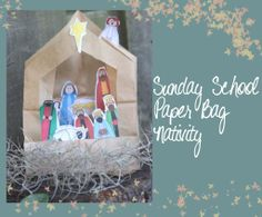 Seasonal Saturday – Easy DIY Sunday School Nativity Craft