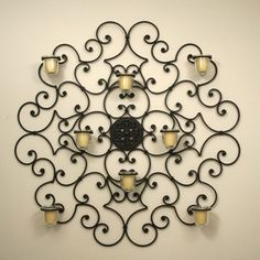 Wrought Iron Home Decoration.  This is so pretty!
