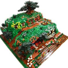 Five Movie Sets Recreated in LEGO [Featured] - Hobbiton LEGO