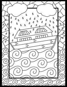 Six Noah's Ark coloring pages