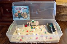 Click. Pray. Love: The Legend of The Candy Cane Sensory Play legend of candy cane, candies, candi cane, sensori play, candy canes, homeschool idea, sensory play, cane sensori, christma