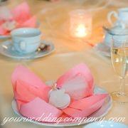 Lotus flower napkin design