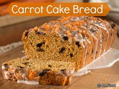 Carrot Cake Bread - This #lowfat healthy bread recipe is a fun twist on a classic cake favorite.