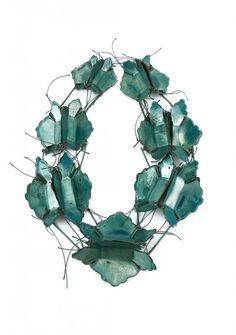 Fachhochschule Idar-Oberstein Idar-Oberstein (DE) - Francisca Bauzá Förster - necklace Turquesa 2009, copper, textile, enamel, silver