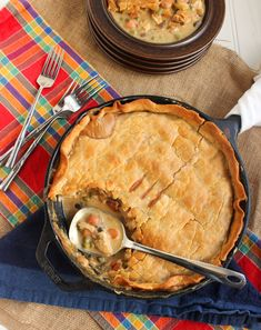 Skillet Chicken Pot Pie - What a great concept! Must try this one day.