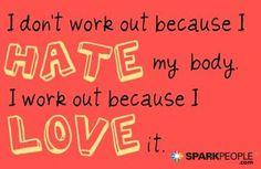 LOVE this attitude!!   via @SparkPeople #positivity #selflove #inspiration #motivation #health #fitness