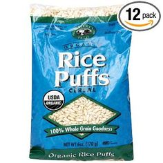 Brown rice puffs