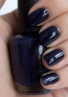 OPI Nail Polish Road House Blues - Great navy shade for the fall with your #switchflops :-)