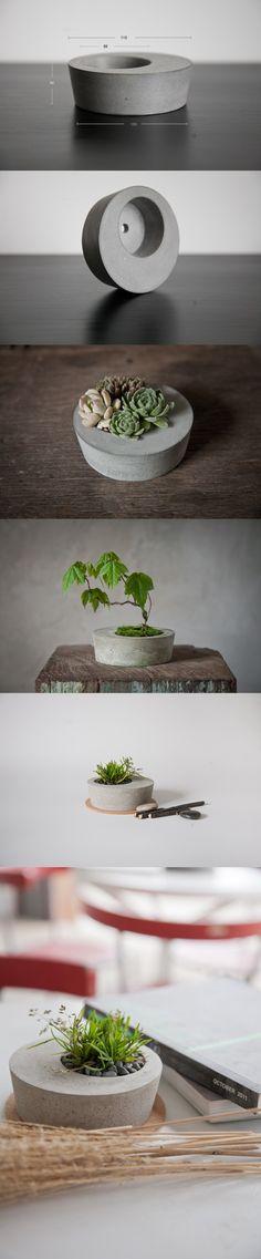 Joli pot à plante en béton