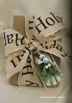burlap ribbon/wrapping