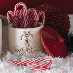 . color candi, candies, christmas, candi cane, christma time, candy canes, ceramics, canisters, cane christma