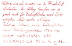 ... great article about the end of handwriting (in german)
