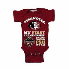 Florida State Seminoles (FSU) 2013 BCS National Champions Infant My First Creeper - Garnet babi ryan, creepers, seminol fsu, garnet, babi boy, florida state seminoles, infants