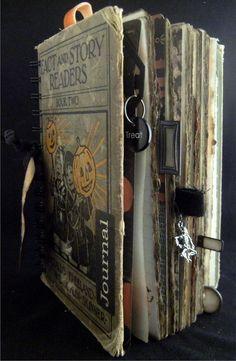 art journal, journalsscrapbookalt book, craftsalt book, album, altered books, art book, alter booksjourn, sewing tutorials, halloween