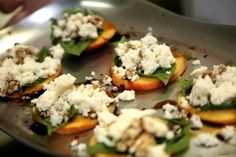 Healthy Caprese Salad- Substitute fresh peaches instead of tomatoes!